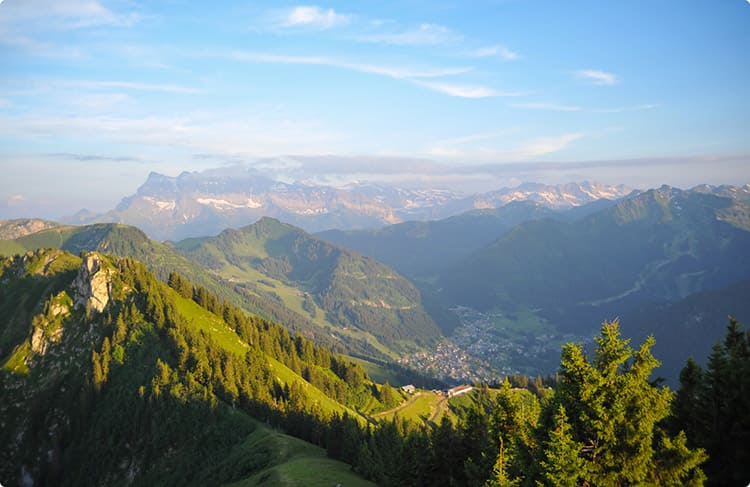 Chatel and the Portes du Soleil area in summer