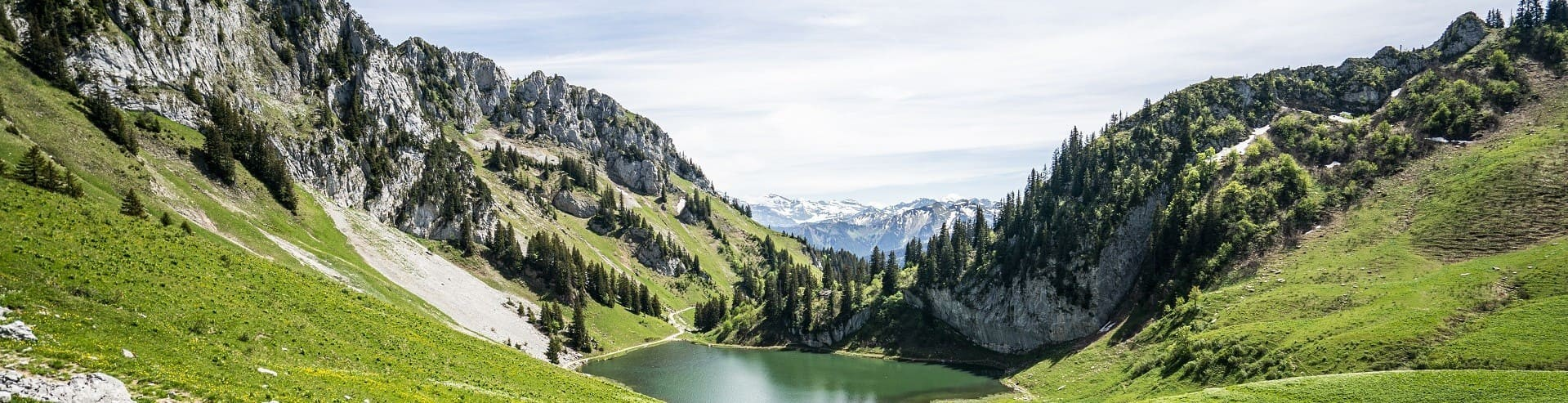 Lac d'Arvouin Châtel en été