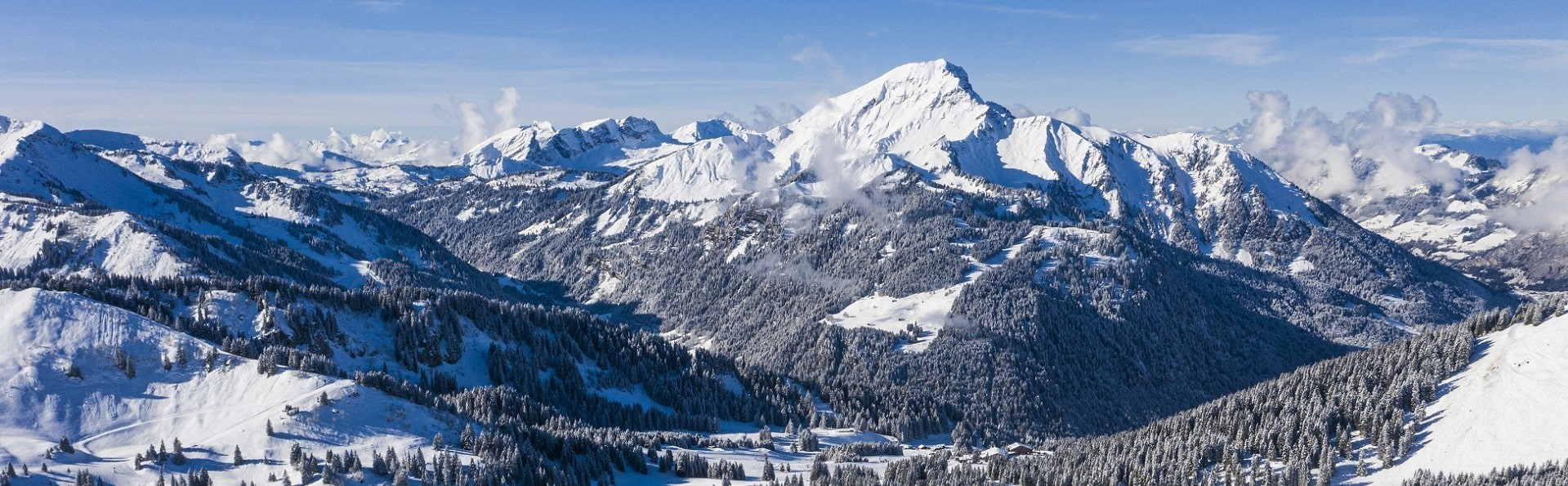 Mountains and snow arount Chatel France