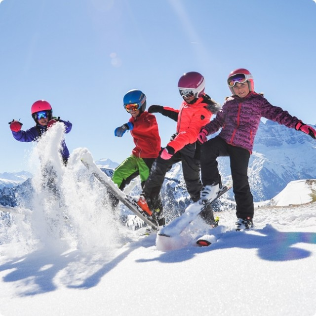 Children skiing in Chatel France