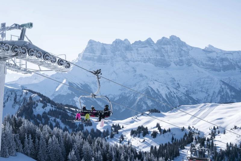 The skiing area