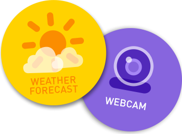 Weather forecast & webcam