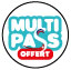 Multi Pass INCLUDED (Provided by the host)