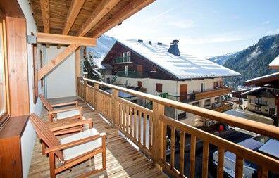 Châtel - Résidence Prestige Odalys Les Fermes de Châtel : Terrasse d'un logement