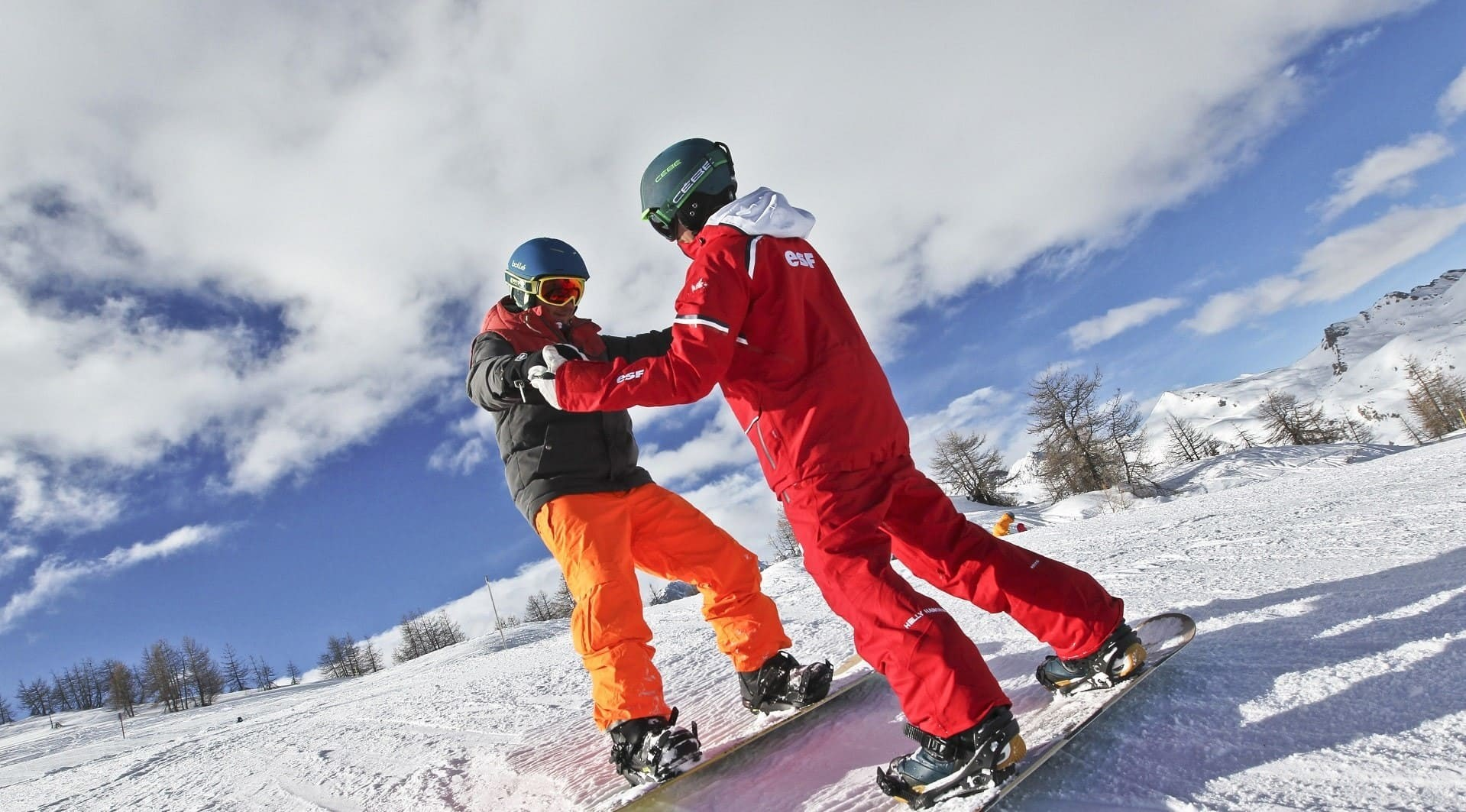 Apprentissage du snowboard à Châtel avec l'Ecole du ski français