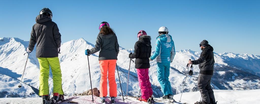 Cours de ski adulte matin - ESI Pro Skiing Pré La Joux Châtel© Apernet