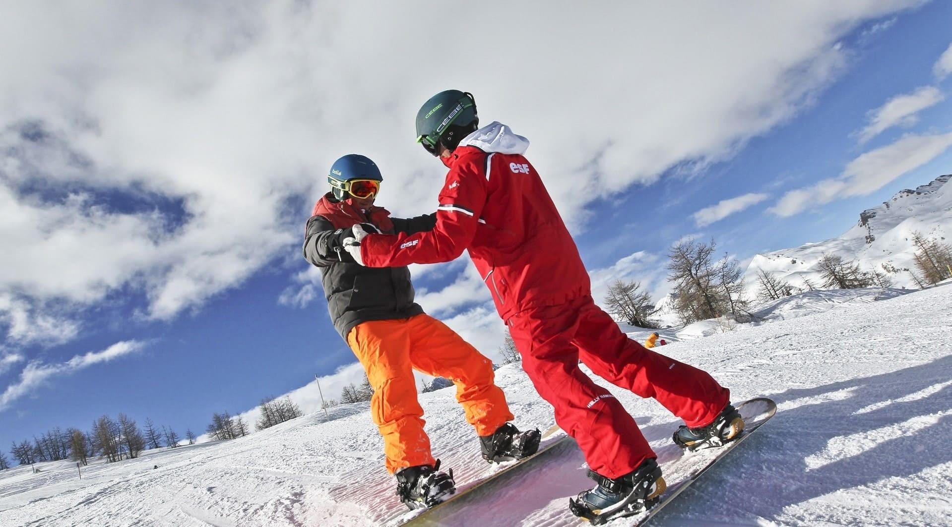 cours de snowboard ESF CHATEL débutant ou initié