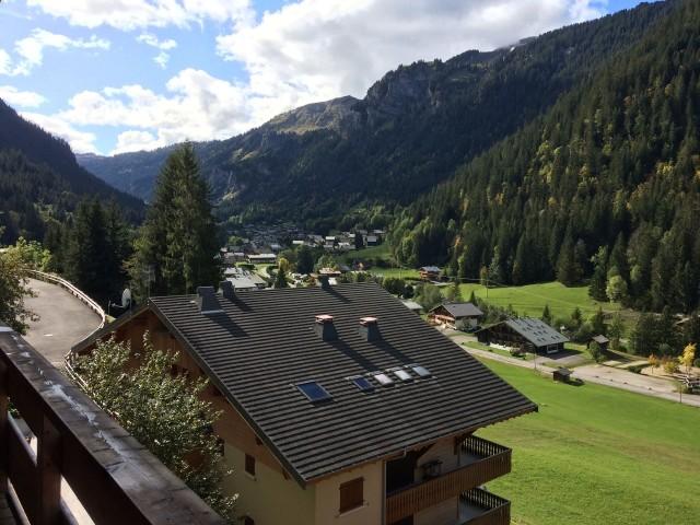 Appartement 103, résidence Bois Colombe, Vue depuis le balcon Châtel Haute Savoie