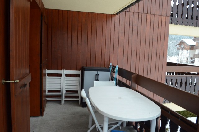 Appartement 6 dans la résidence les Praz, Balcon Châtel