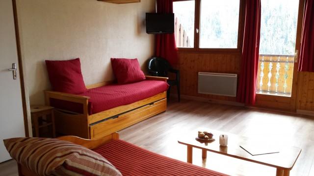 Appartement Choucas Blanc Chamois Salon Châtel 2