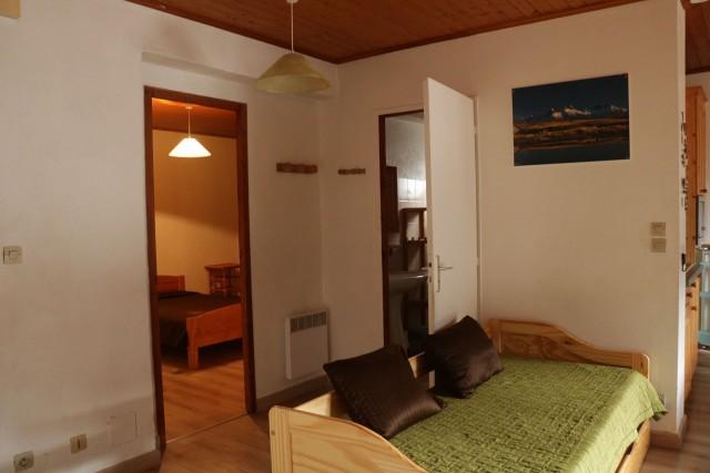 Appartement Choucas Blanc Edelweiss Salon Châtel Montagne