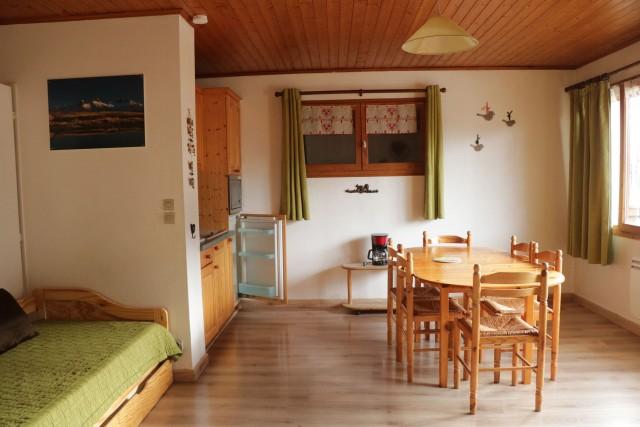 Appartement Choucas Blanc Edelweiss Séjour Châtel