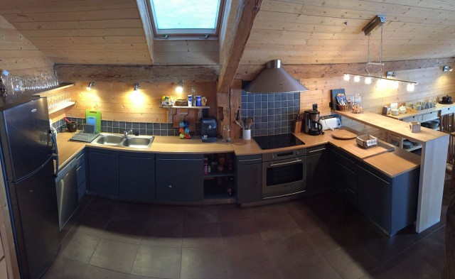 Appartement dans Chalet Ferme Marie Blanche Cuisine Châtel