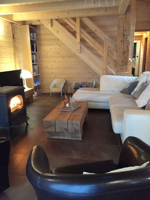 Appartement dans Chalet Ferme Marie Blanche Salon Châtel Montagne