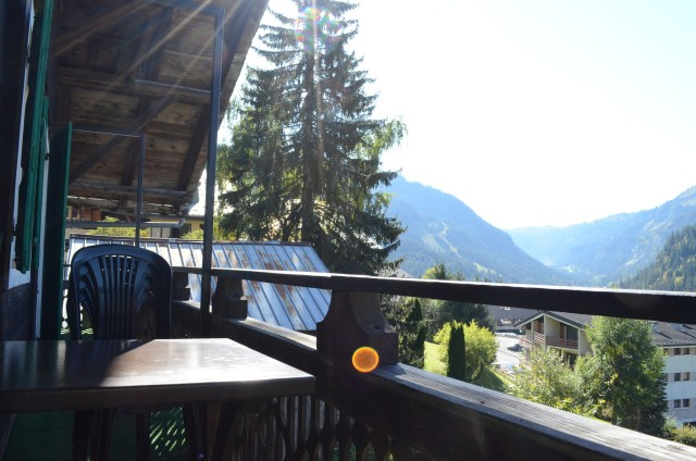 Appartement dans chalet la Ferme, balcon, Châtel Haute Savoie