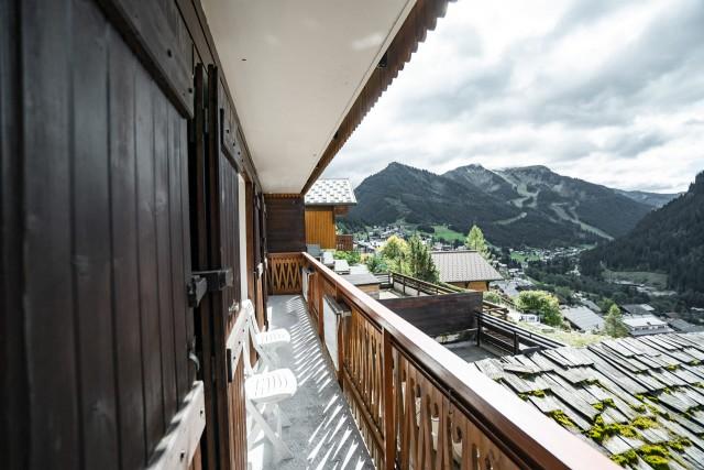 Appartement dans Chalet La Puce Vue du Balcon Châtel