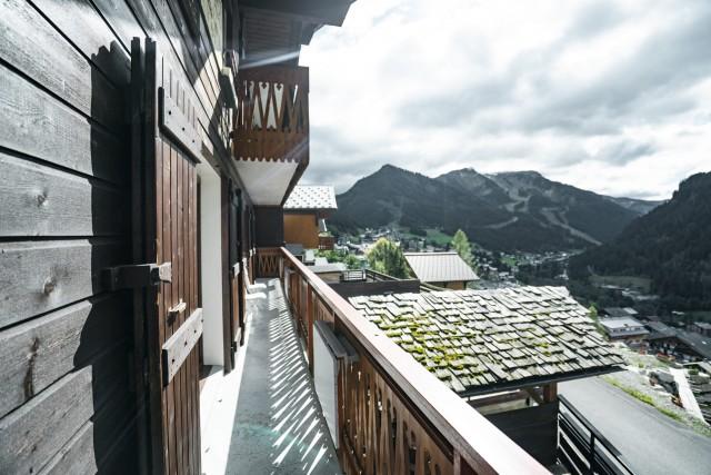 Appartement dans Chalet La Puce Vue du Balcon Châtel  Portes du Soleil