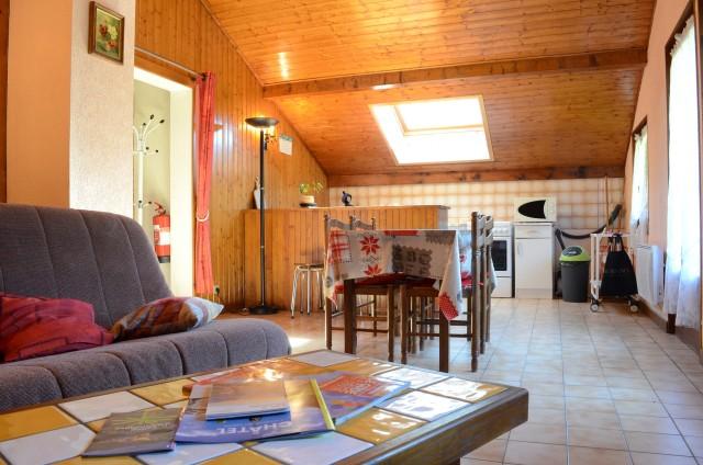 Appartement dans chalet le Bivouac,Salon, Châtel Portes du Soleil