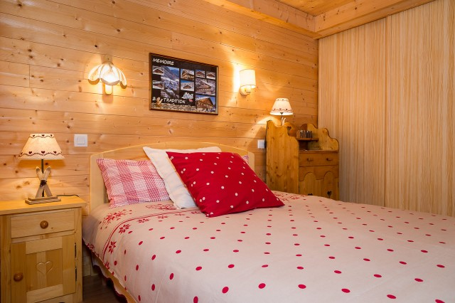 Appartement dans chalet les Clochettes, Chambre Châtel Haute Savoie