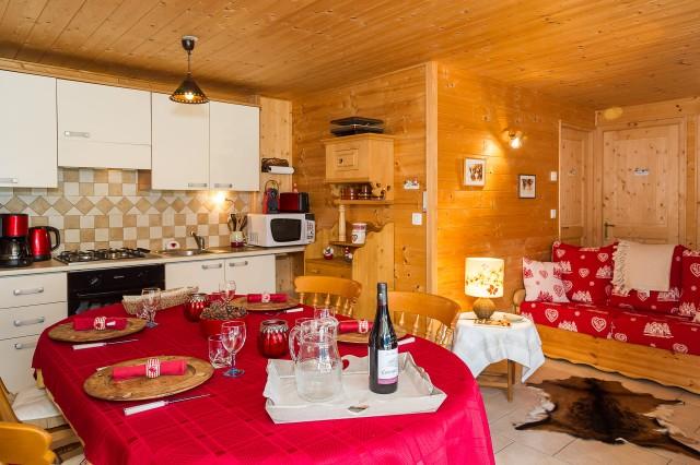 Appartement dans chalet les Clochettes, Cuisine Châtel 2