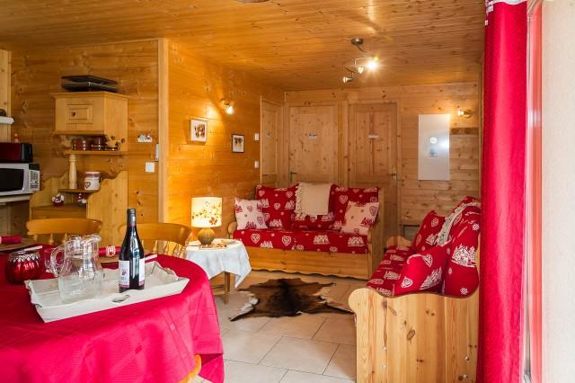 Appartement dans chalet les Clochettes, Salon Châtel