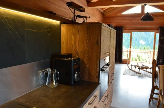 Appartement dans chalet Les Greniers Cuisine Châtel 2