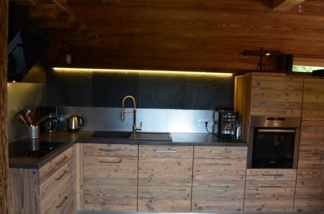 Appartement dans chalet Les Greniers Cuisine Châtel France