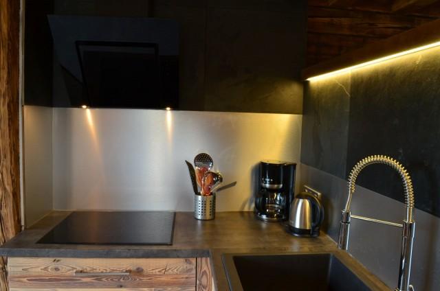 Appartement dans chalet Les Greniers Cuisine Châtel Neige