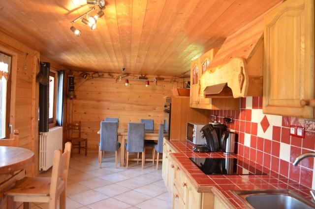 Appartement dans chalet les Pivottes, Cuisine, Châtel Haute Savoie