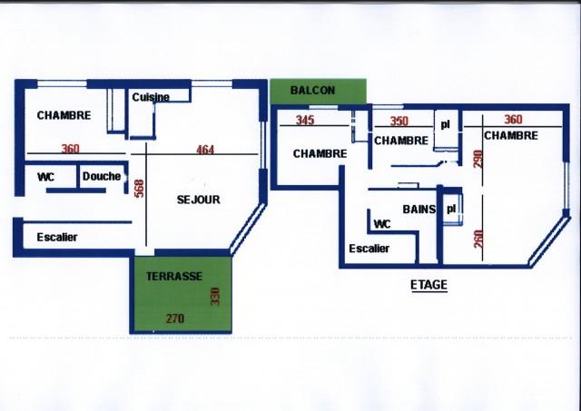 Appartement Echo des Montagnes 5 Plan Châtel