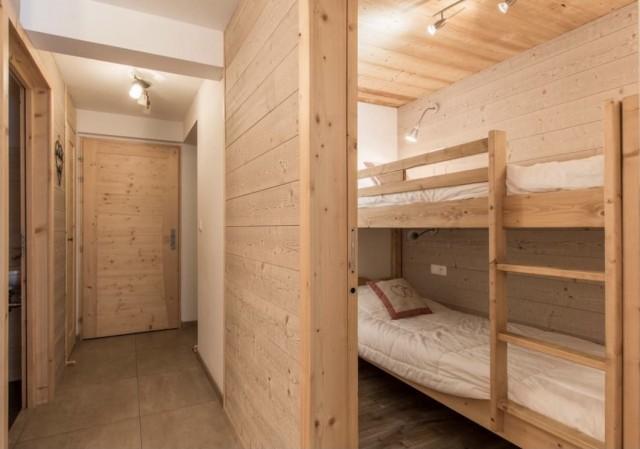 Appartement la Belette chambre avec lits superposés Châtel