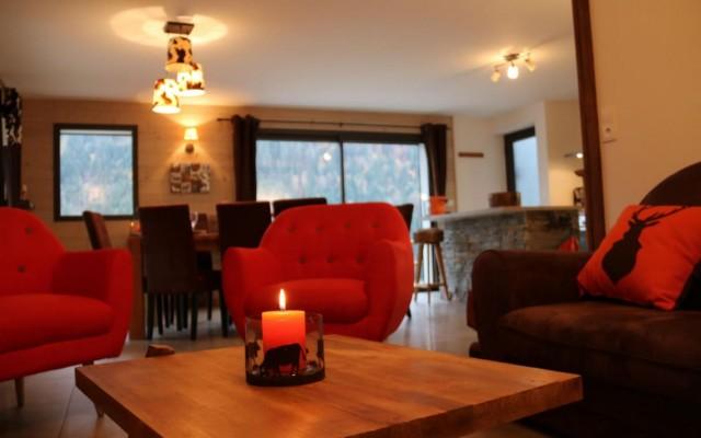 Appartement la Belette Salon Châtel Haute Savoie