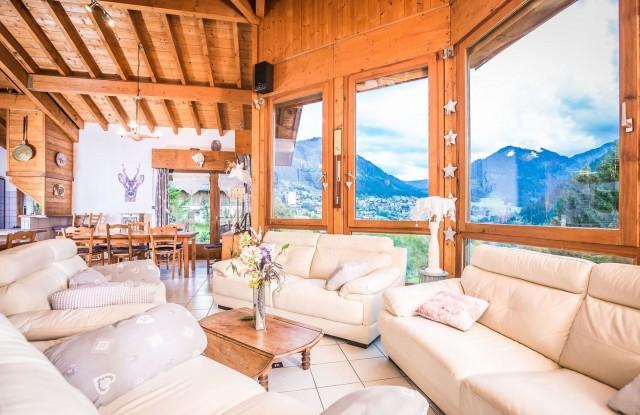 Appartement La Couqueille Salon Châtel Haute-Savoie