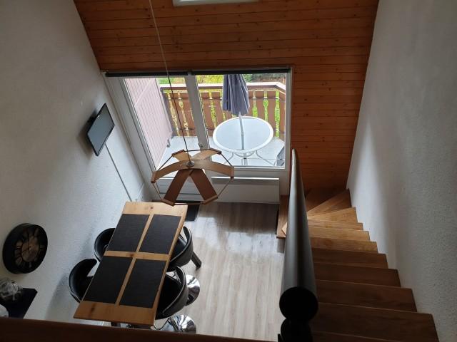 Appartement la toison blanche 55 C salon Châtel Portes du Soleil