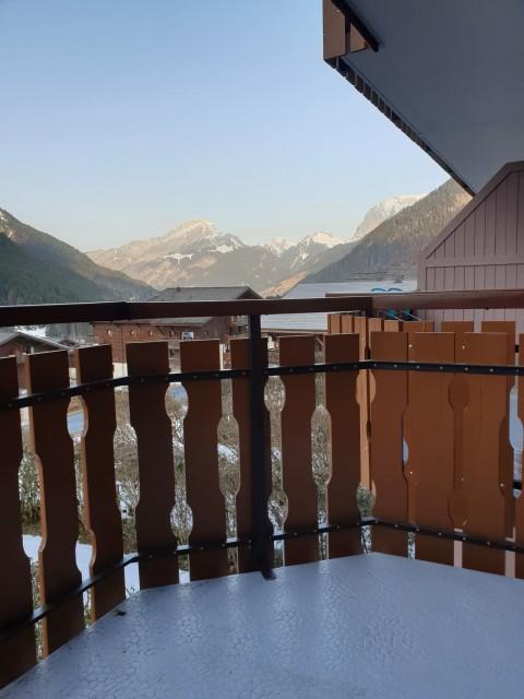 Appartement la toison blanche 55 C vue depuis le balcon Châtel Alpes du Nord