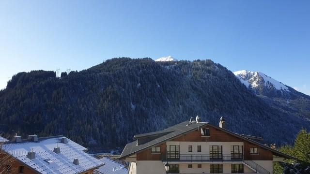 Appartement le morclan 14 vue depuis le balcon Châtel Haute Savoie