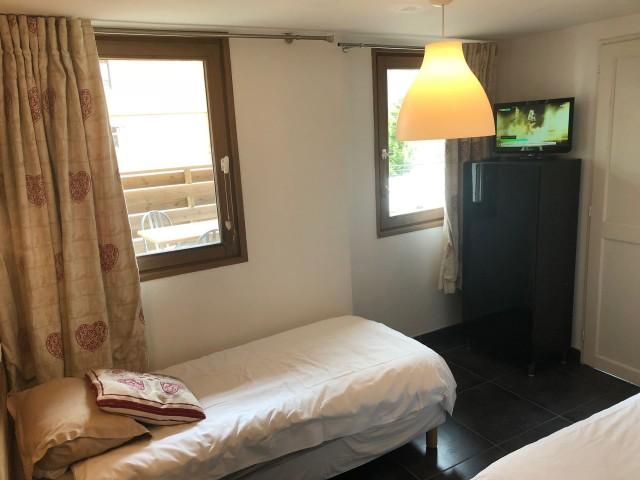 Appartement Martonne, Chambre 2 lits simples Châtel Haute Savoie