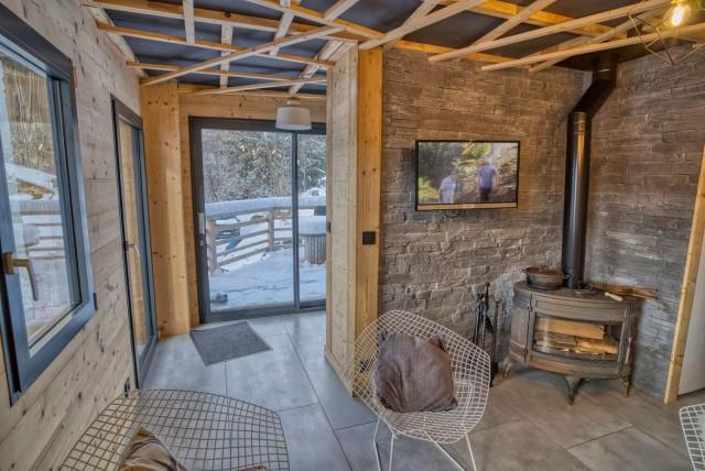 Appartement Martonne terasse entrée Châtel Haute Savoie