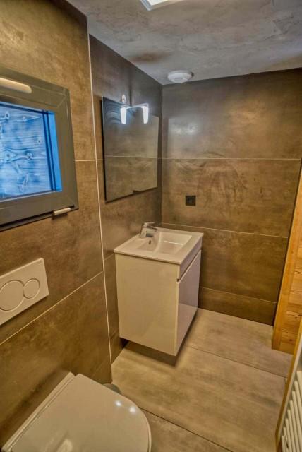 Appartement Martonne terrasse, Salle de douche au rez de chaussée, Châtel Portes du Soleil
