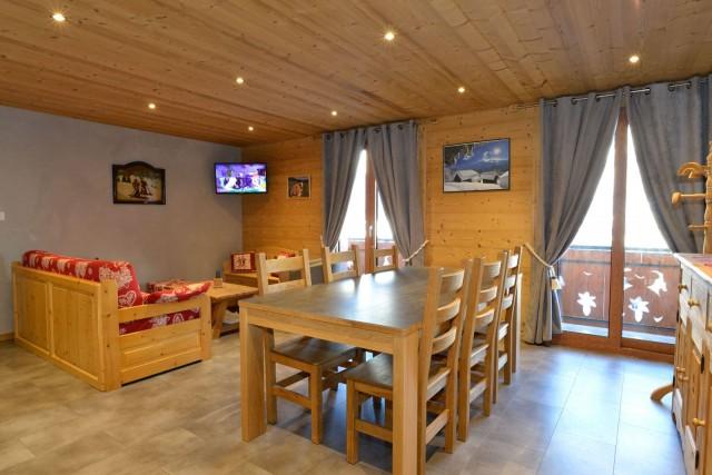 Appartement n°2 dans chalet l'EPICEA, Pièce de vie Châtel