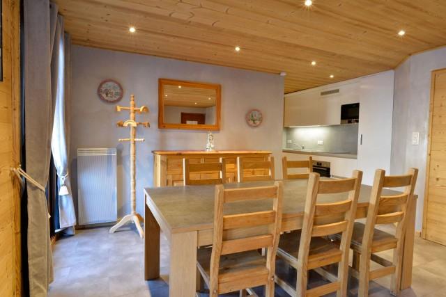 Appartement n°2 dans chalet l'EPICEA, Pièce de vie Châtel Haute-Savoie