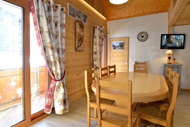 Appartement n°4 chalet L'EPICEA, Pièce de vie Châtel 74
