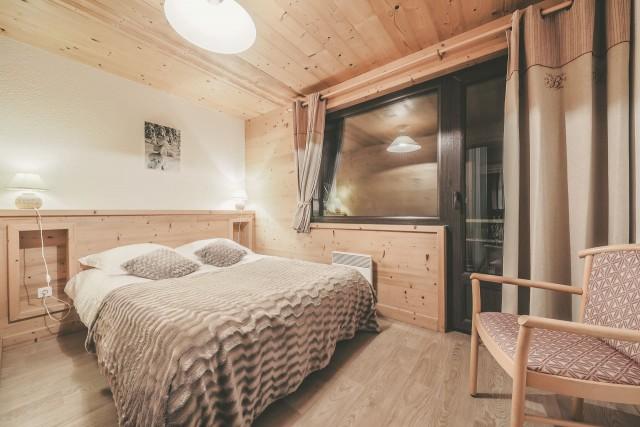 Appartement n°4 dans résidence Lou Candres, Chambre avec lit double, Châtel