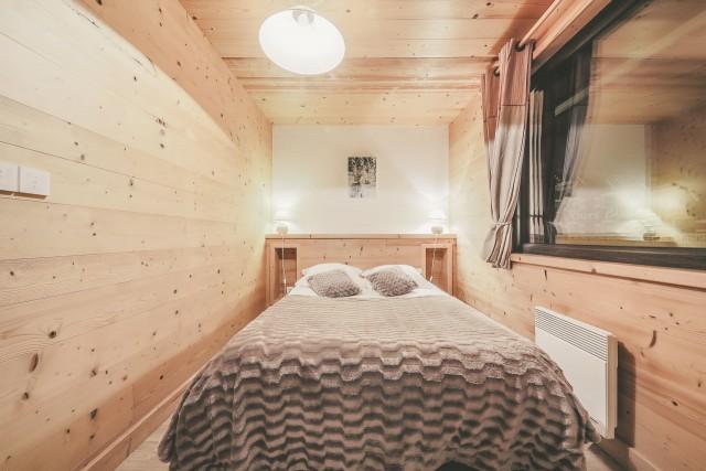Appartement n°4 dans résidence Lou Candres, Chambre avec lit double, Châtel Haute Savoie