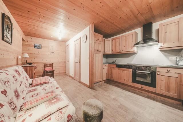 Appartement n°4 dans résidence Lou Candres, Séjour, Châtel Ski