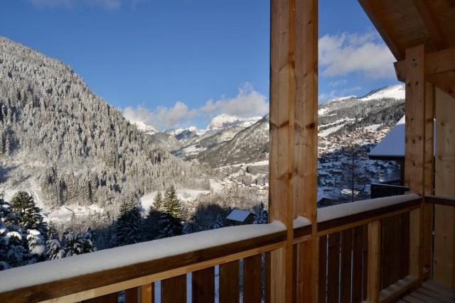 Chalet Alaska vue hiver Châtel 74