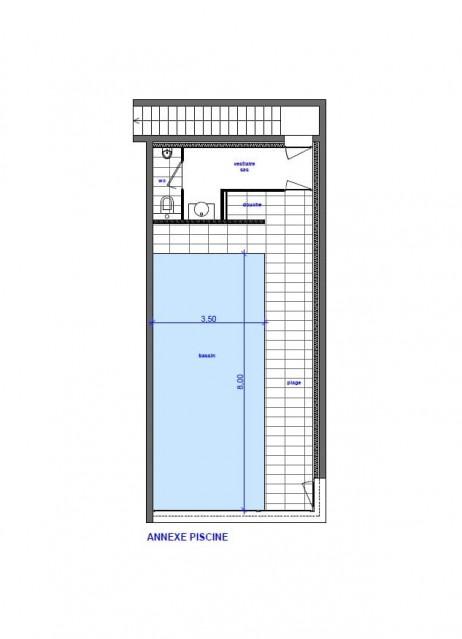 Chalet du Saix  plan de la piscine intérieure Châtel