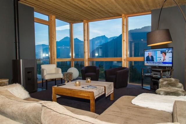 Chalet du Saix salon Châtel Alpes du nord