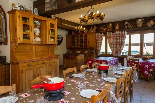 Chalet Le Petit Cornillon Salle à manger Châtel 74