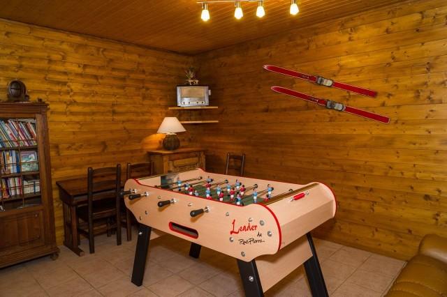 Chalet Le Petit Cornillon Salle de jeux Châtel